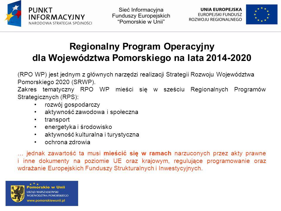 Regionalny Program Operacyjny dla Województwa Pomorskiego na lata 2014-2020