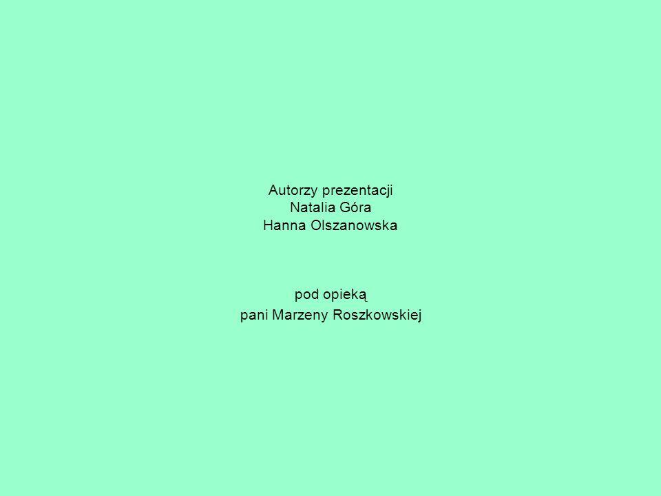 Autorzy prezentacji Natalia Góra Hanna Olszanowska