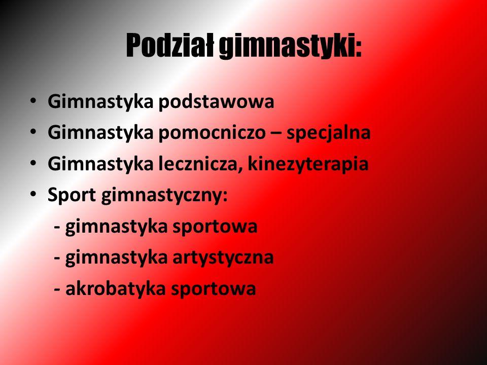 Podział gimnastyki: Gimnastyka podstawowa