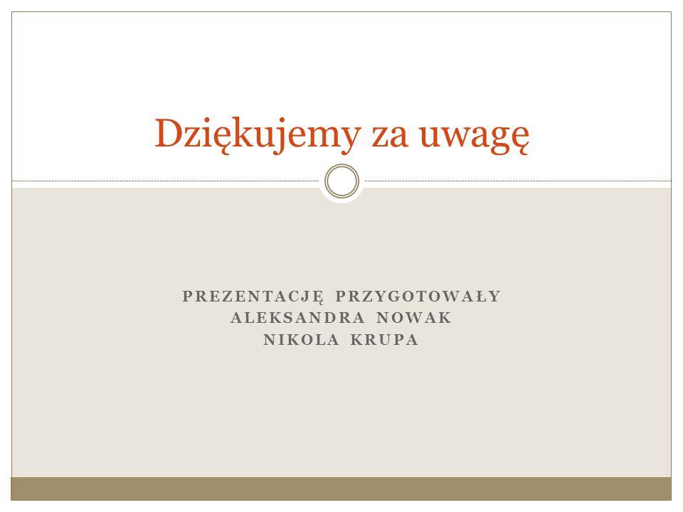 Prezentację przygotowały Aleksandra Nowak Nikola Krupa