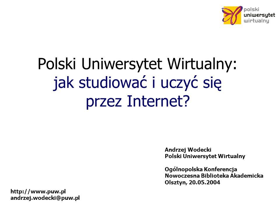 Polski Uniwersytet Wirtualny: jak studiować i uczyć się przez Internet