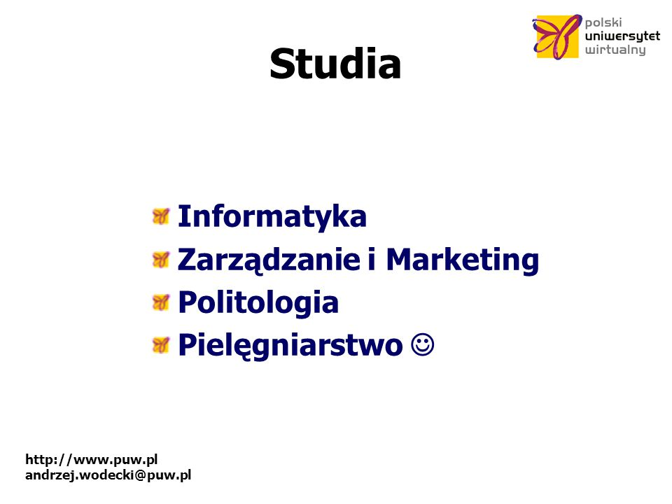 Studia Informatyka Zarządzanie i Marketing Politologia