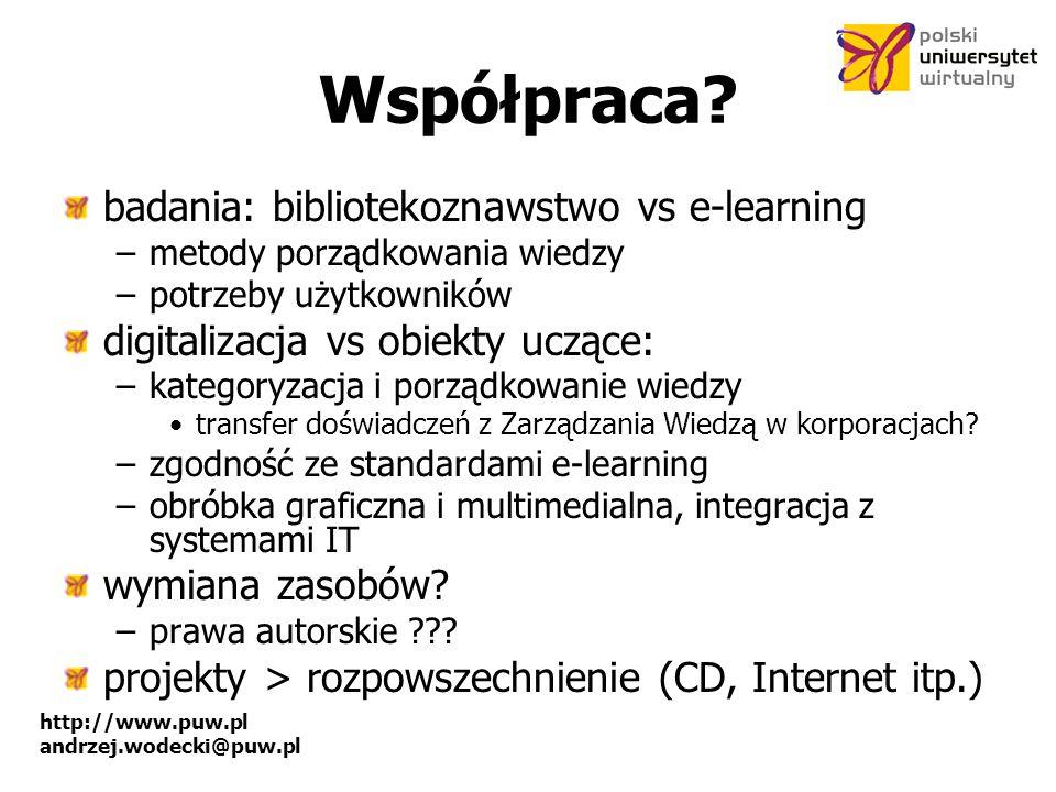 Współpraca badania: bibliotekoznawstwo vs e-learning