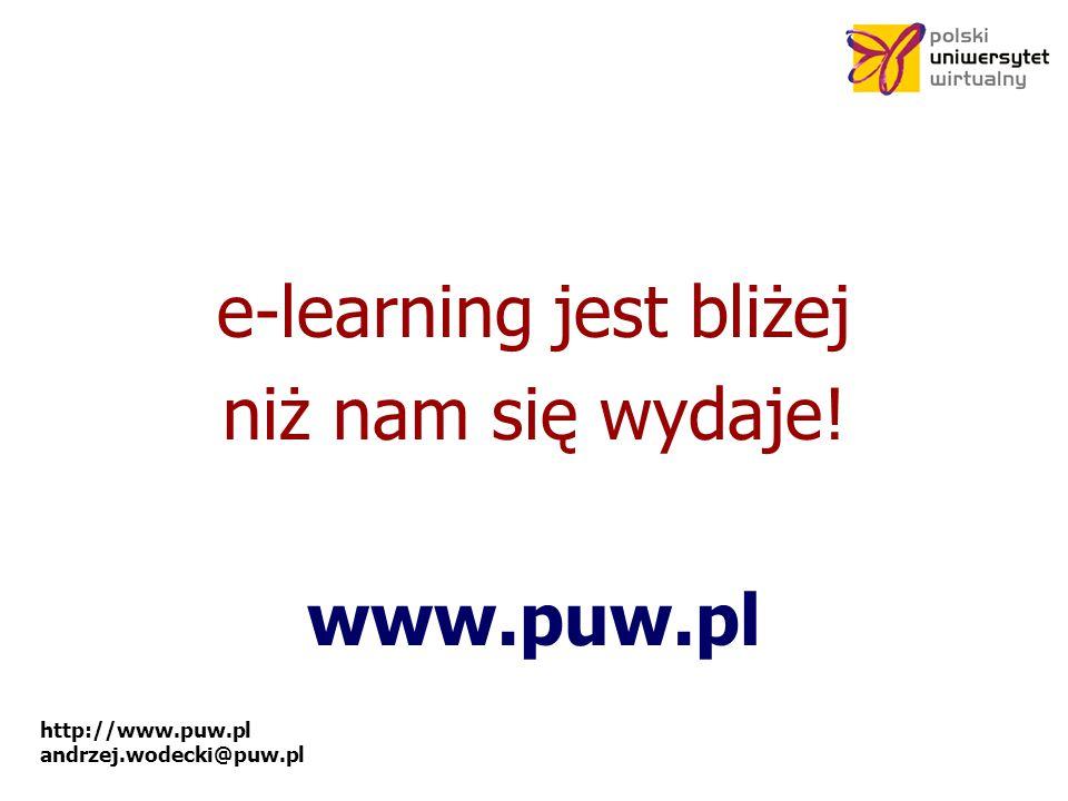e-learning jest bliżej