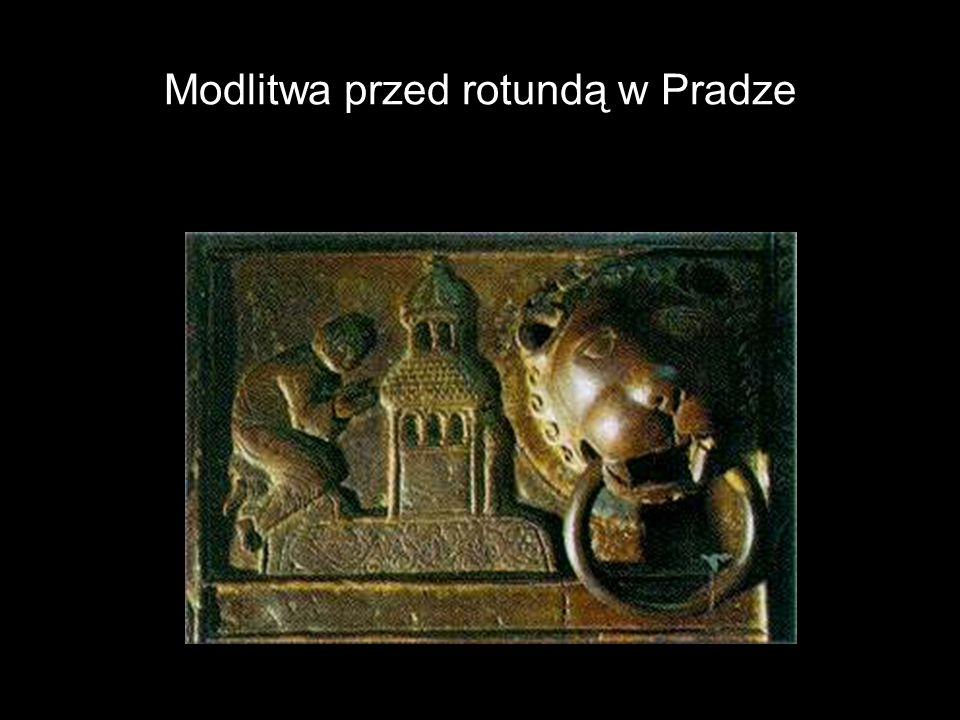 Modlitwa przed rotundą w Pradze
