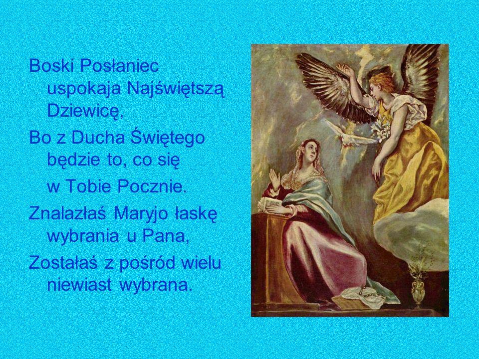 Boski Posłaniec uspokaja Najświętszą Dziewicę,