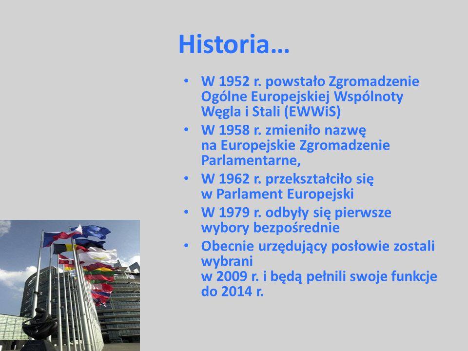Historia… W 1952 r. powstało Zgromadzenie Ogólne Europejskiej Wspólnoty Węgla i Stali (EWWiS)