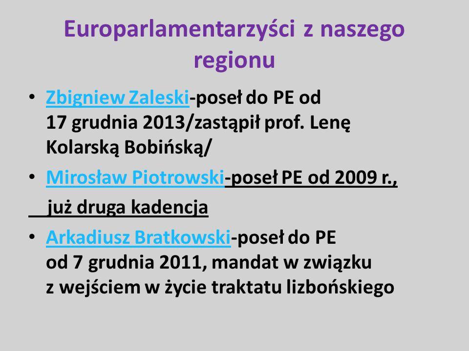 Europarlamentarzyści z naszego regionu