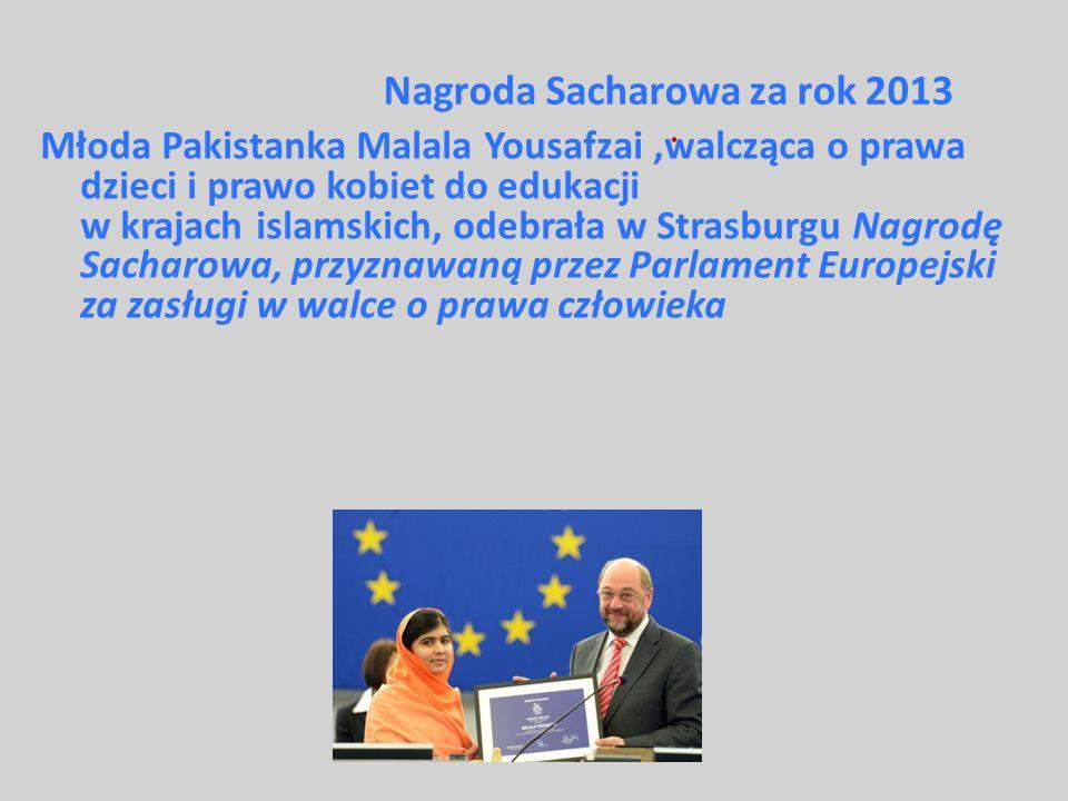 Nagroda Sacharowa za rok 2013 :