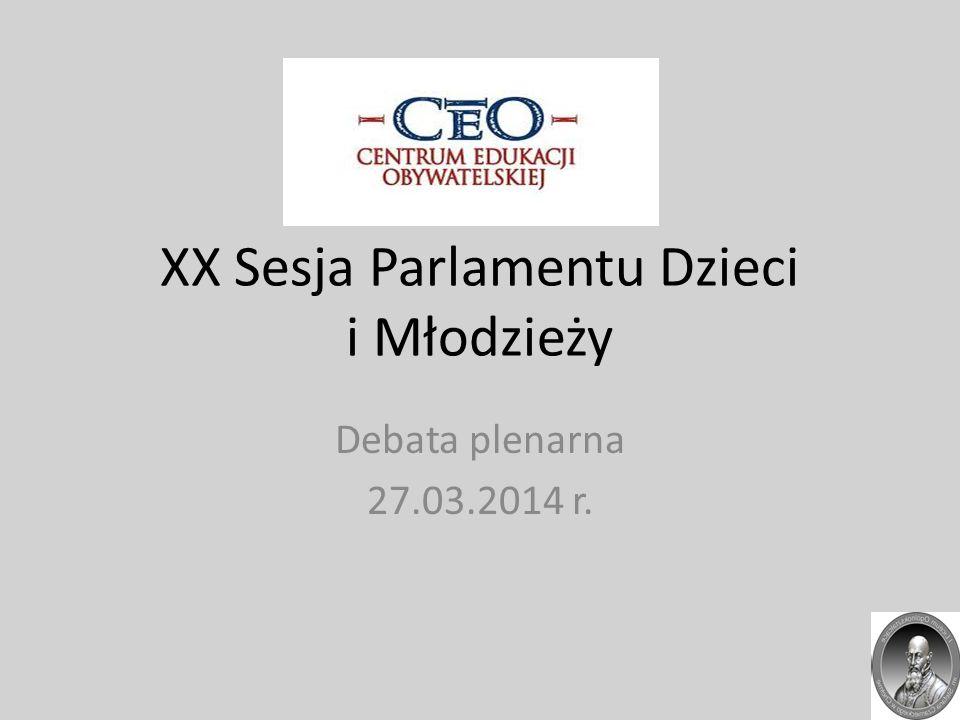 XX Sesja Parlamentu Dzieci i Młodzieży