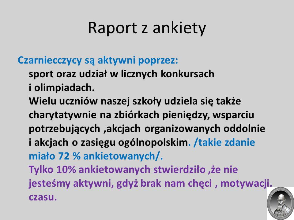 Raport z ankiety
