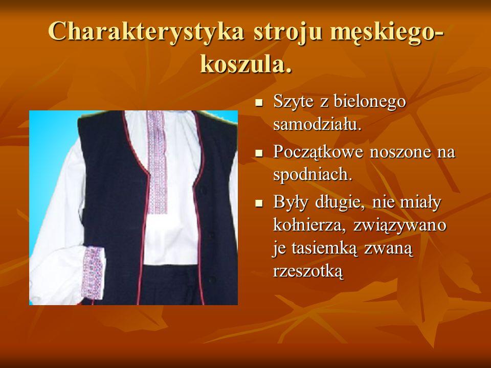 Charakterystyka stroju męskiego- koszula.