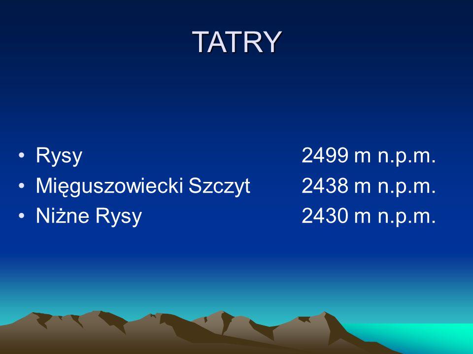 TATRY Rysy 2499 m n.p.m. Mięguszowiecki Szczyt 2438 m n.p.m.