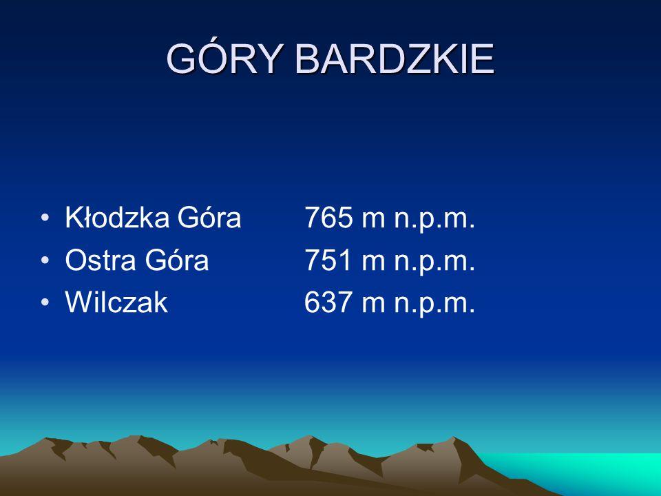 GÓRY BARDZKIE Kłodzka Góra 765 m n.p.m. Ostra Góra 751 m n.p.m.