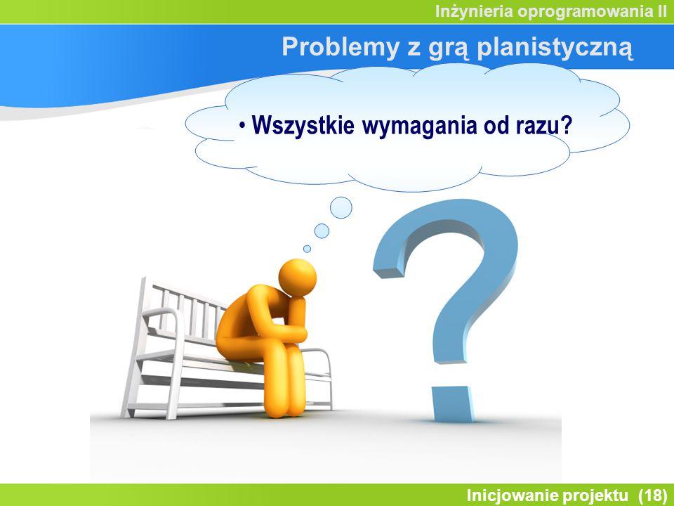 Problemy z grą planistyczną