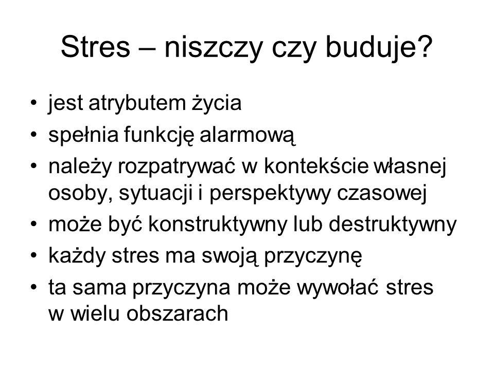 Stres – niszczy czy buduje
