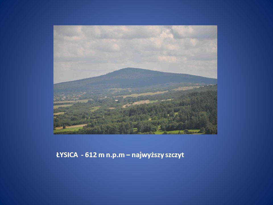ŁYSICA - 612 m n.p.m – najwyższy szczyt