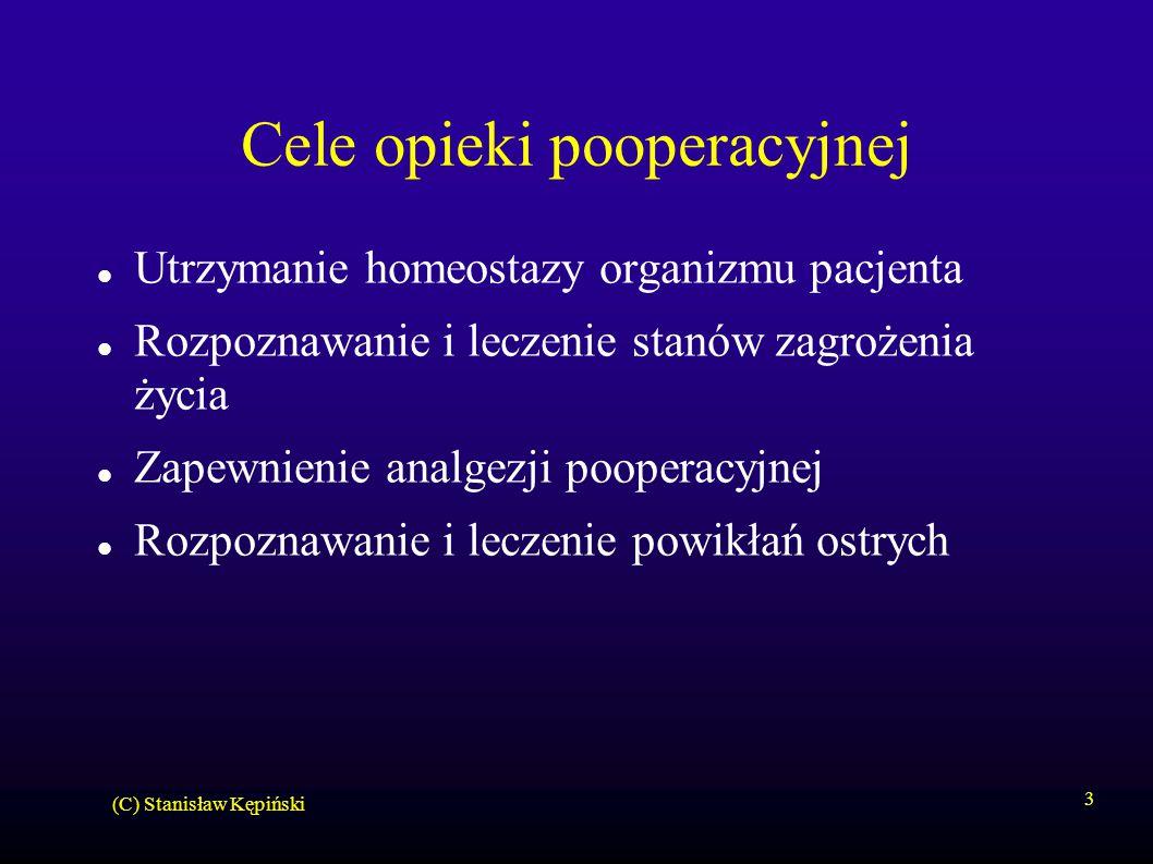 Cele opieki pooperacyjnej