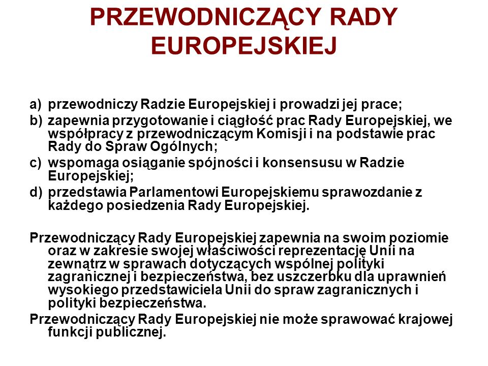 PRZEWODNICZĄCY RADY EUROPEJSKIEJ
