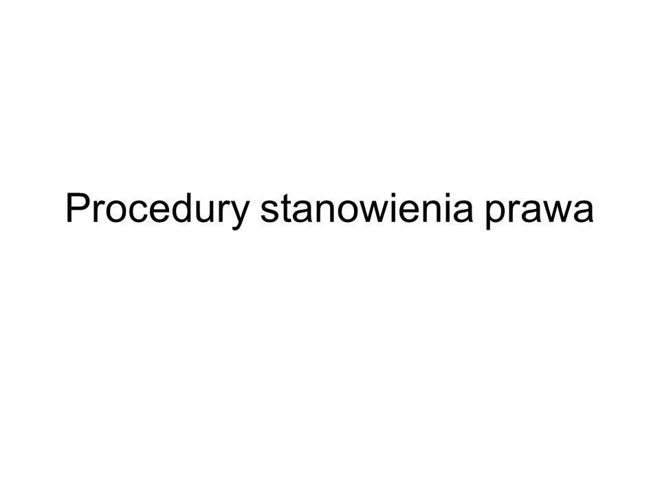 Procedury stanowienia prawa