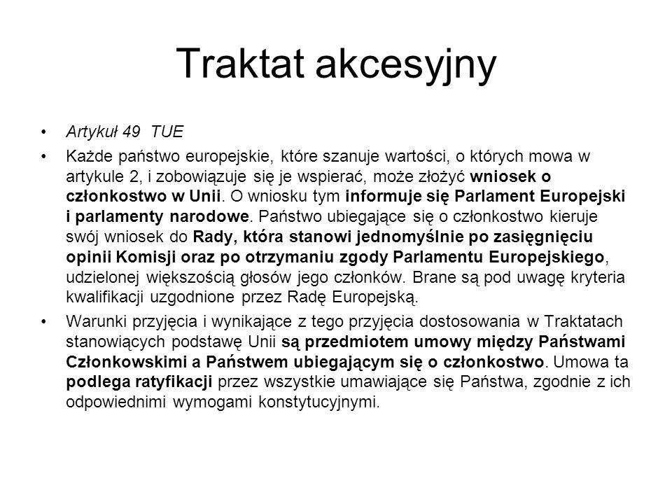 Traktat akcesyjny Artykuł 49 TUE