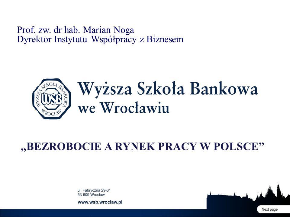"""""""BEZROBOCIE A RYNEK PRACY W POLSCE"""