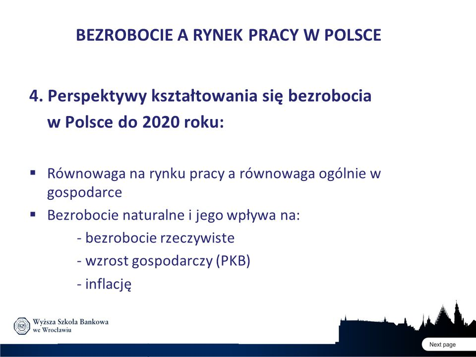 BEZROBOCIE A RYNEK PRACY W POLSCE