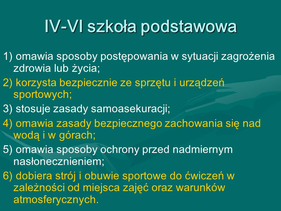 IV-VI szkoła podstawowa