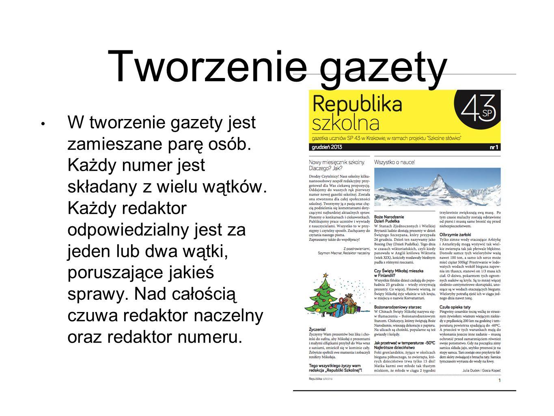 Tworzenie gazety