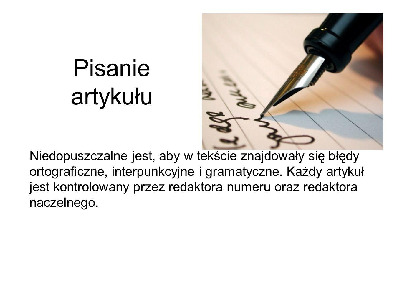 Pisanie artykułu