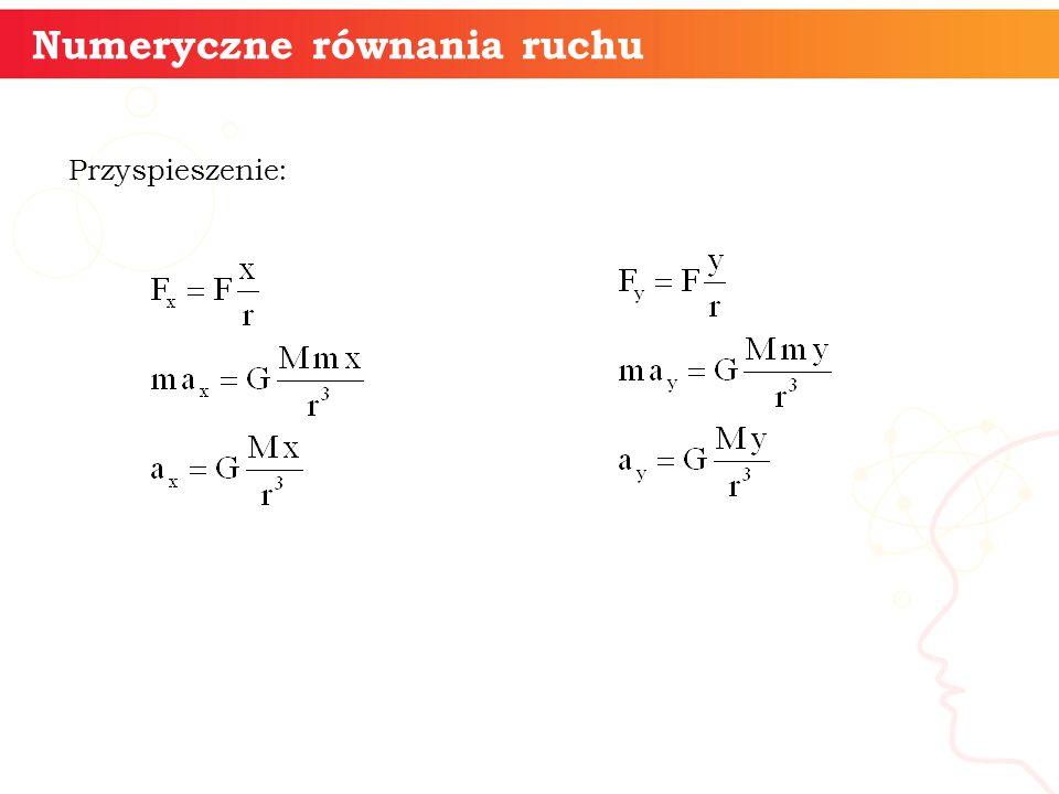 Numeryczne równania ruchu