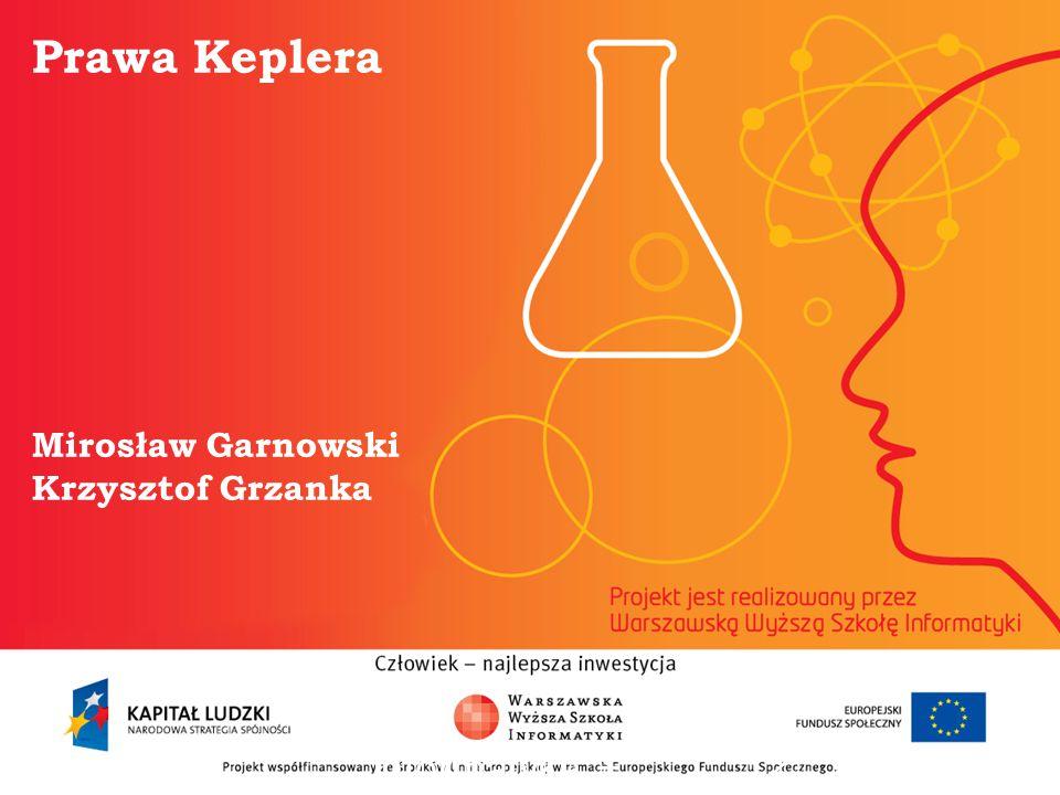 Prawa Keplera Mirosław Garnowski Krzysztof Grzanka