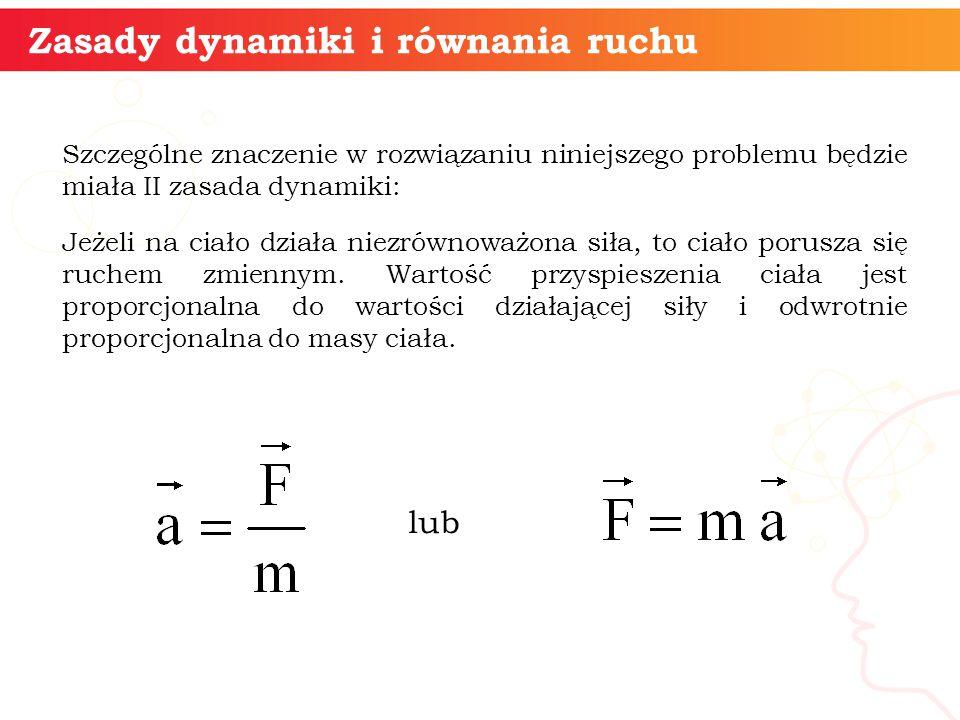 Zasady dynamiki i równania ruchu
