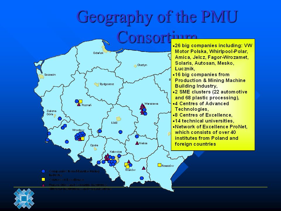 Geography of the PMU Consortium