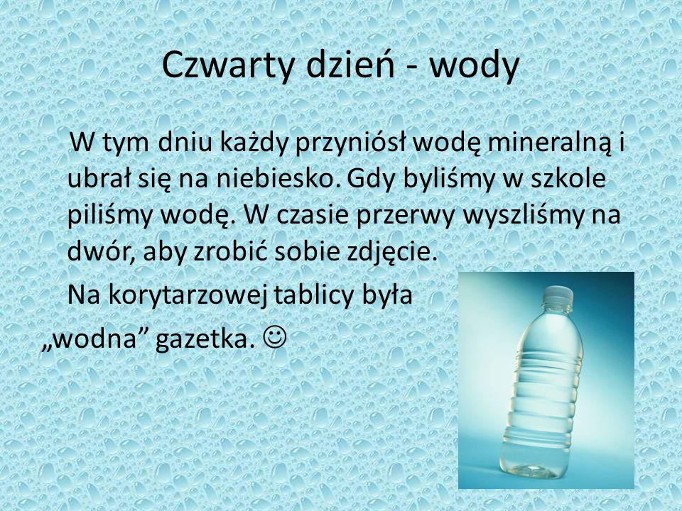 Czwarty dzień - wody