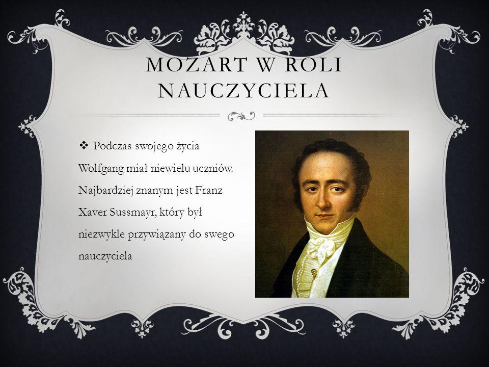 Mozart w roli nauczyciela
