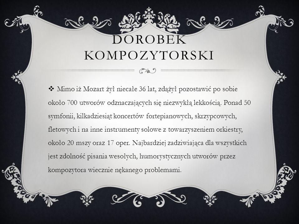 Dorobek kompozytorski