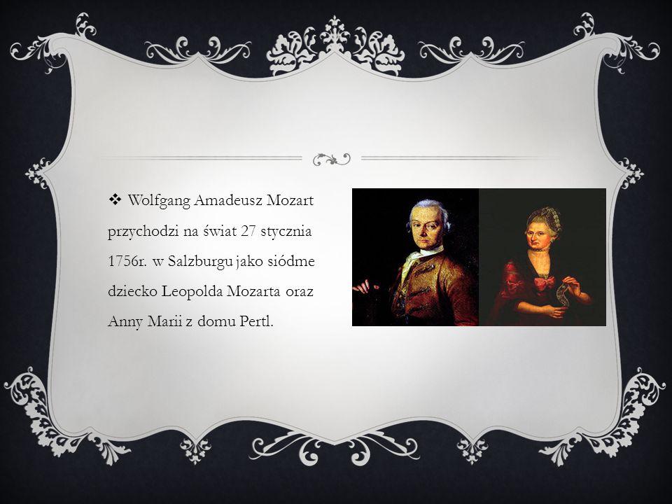 Wolfgang Amadeusz Mozart przychodzi na świat 27 stycznia 1756r