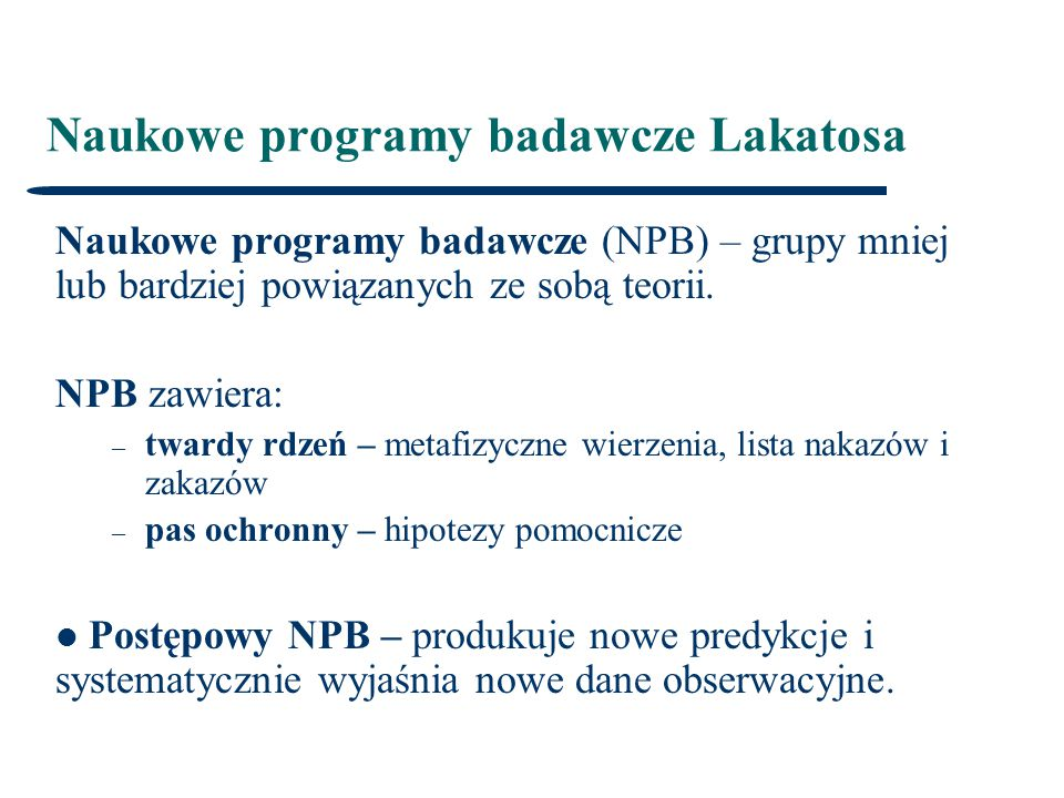 Naukowe programy badawcze Lakatosa