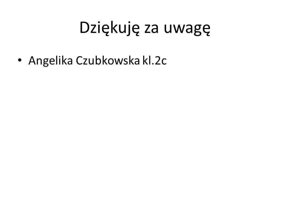 Dziękuję za uwagę Angelika Czubkowska kl.2c