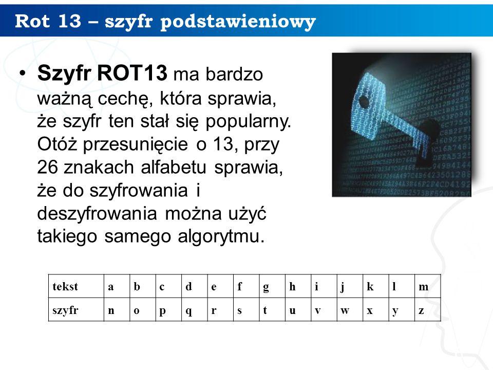 Rot 13 – szyfr podstawieniowy