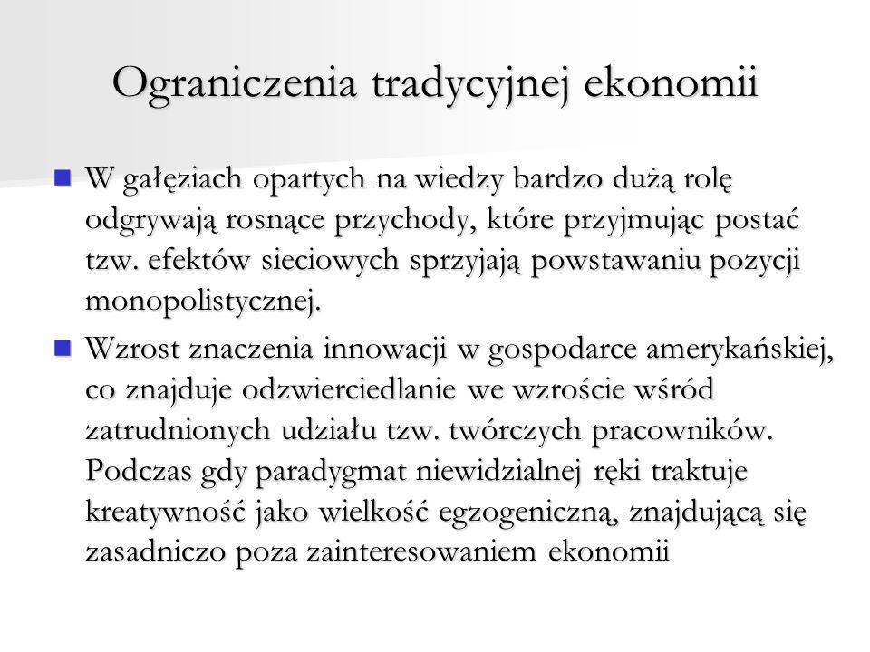 Ograniczenia tradycyjnej ekonomii