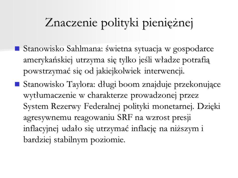 Znaczenie polityki pieniężnej