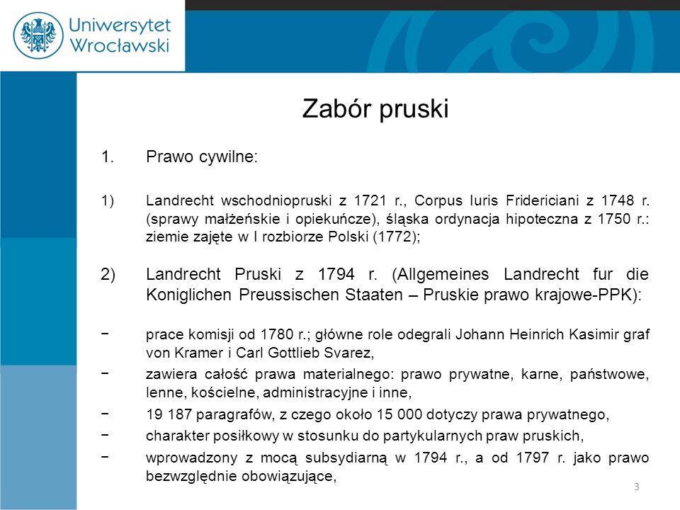 Zabór pruski Prawo cywilne: