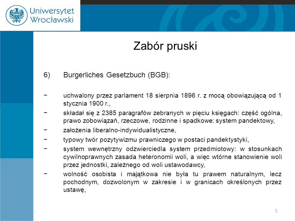 Zabór pruski Burgerliches Gesetzbuch (BGB):