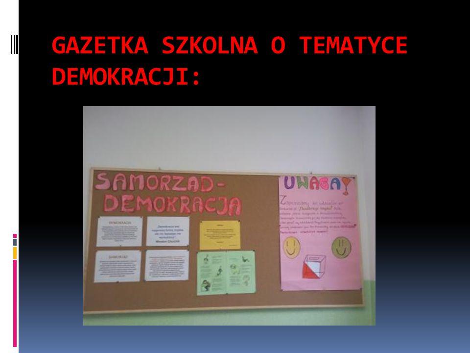 GAZETKA SZKOLNA O TEMATYCE DEMOKRACJI: