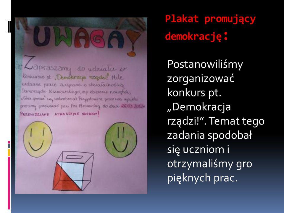 Plakat promujący demokrację: