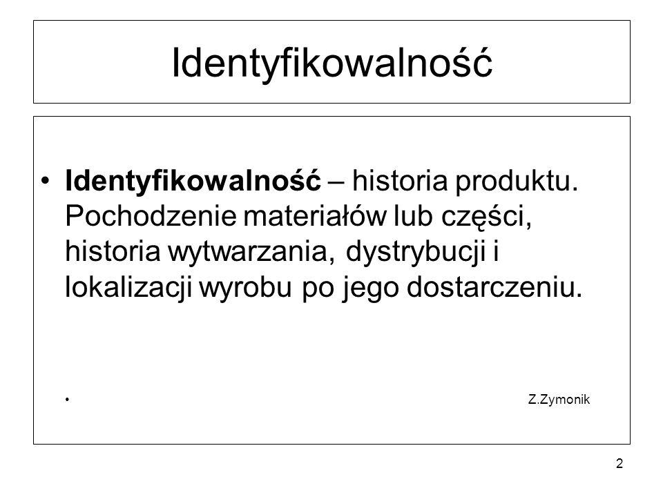 Identyfikowalność