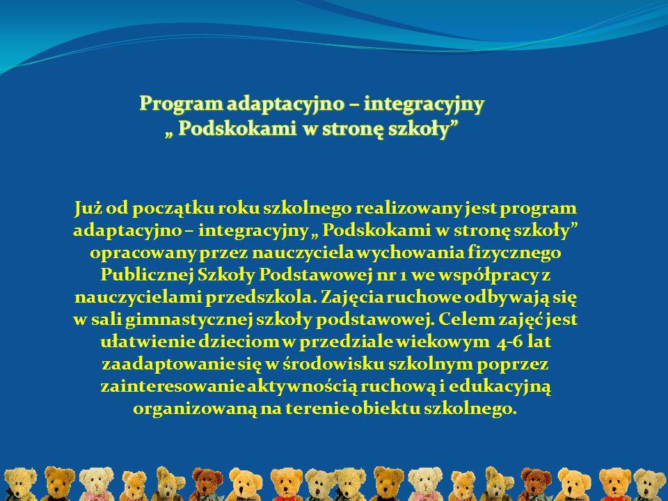 """Program adaptacyjno – integracyjny """" Podskokami w stronę szkoły"""