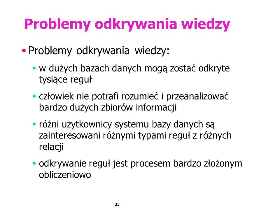 Problemy odkrywania wiedzy